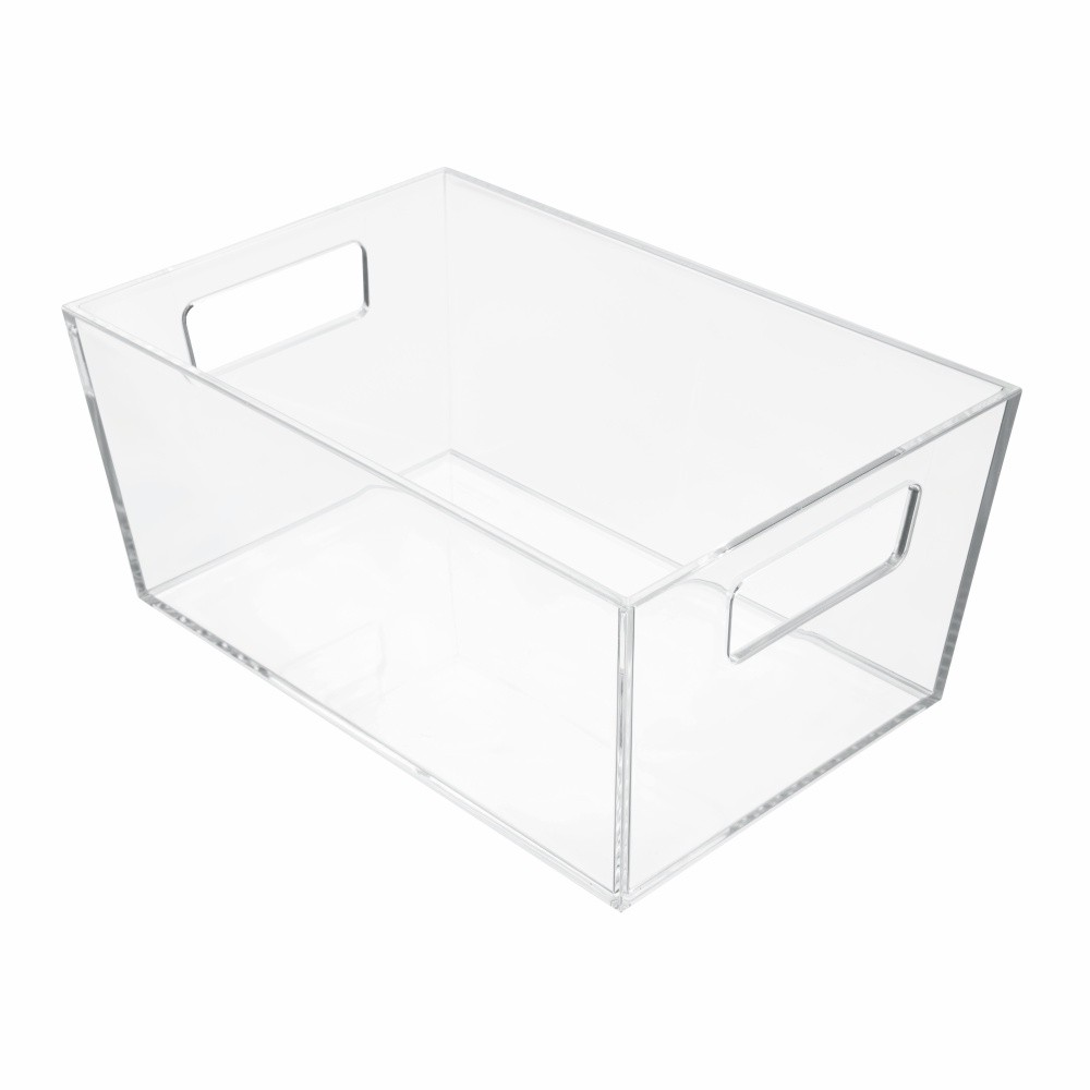 Úložný priehľadný box iDesign Clarity, 22,8 × 15,2 cm