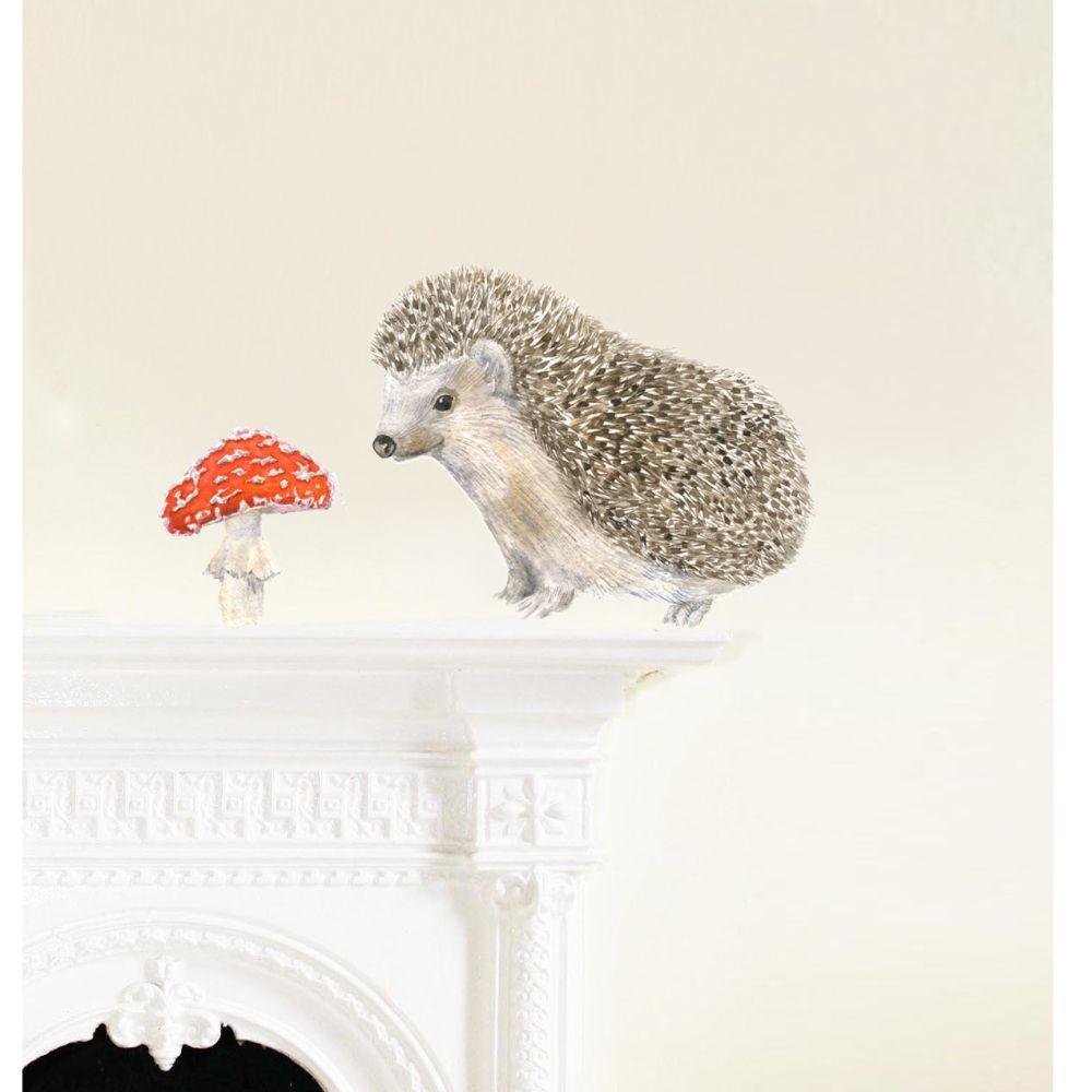 Samolepka na viac použití Hedgehog, 30x21 cm