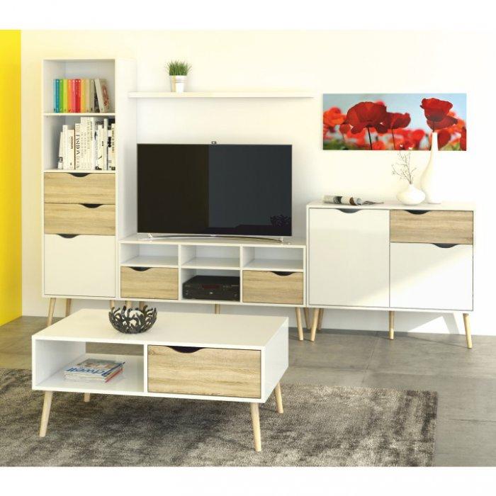 TEMPO KONDELA DELTA obývacia izba - dub sonoma / biela