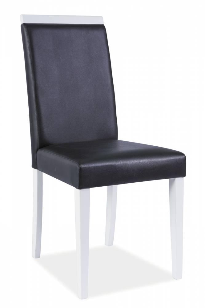 Jedálenská stolička CD-77 (čierna + biela)