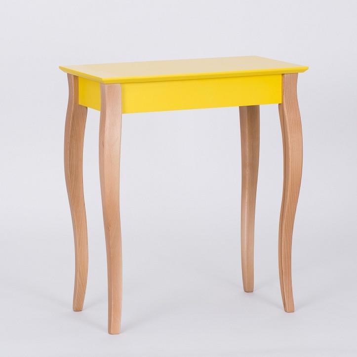 Žltý odkladací stolík Ragaba Console,dĺžka 65cm