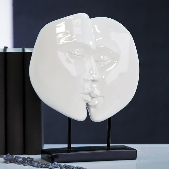 Dekoratívna soška FACES - biela