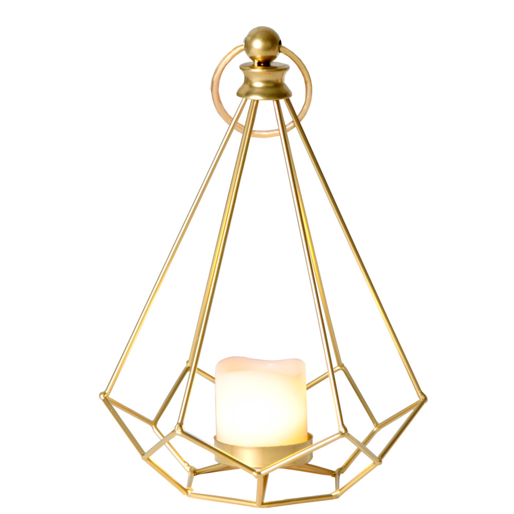 LED lampáš Dome, mosadz