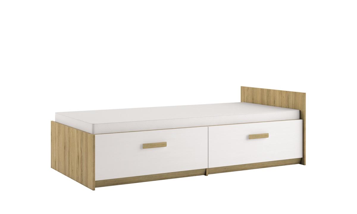 ML MEBLE BEST 17 90 posteľ - dub divoký / biela linea