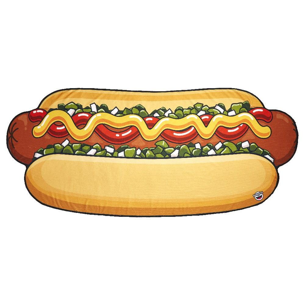 Plážová deka v tvare hot dogu Big Mouth Inc., 152 x 152 cm