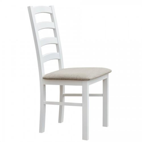 Biely nábytok Stolička Belluno Elegante 01, čalúnenie PORTOS 734