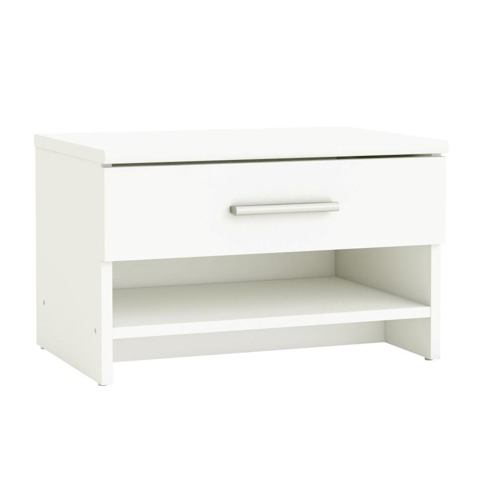 Biely nočný stolík Tim
