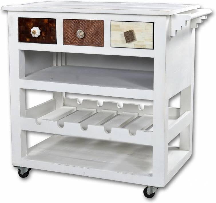 Príručný stolík IVARY - biela/viacfarebná