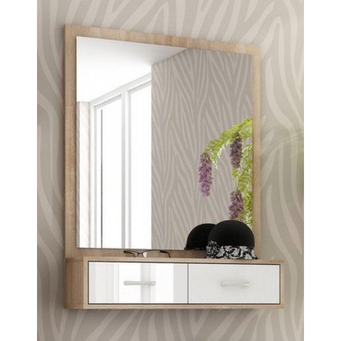 WIP PORTO zrkadlo - sonoma svetlá / biely lesk
