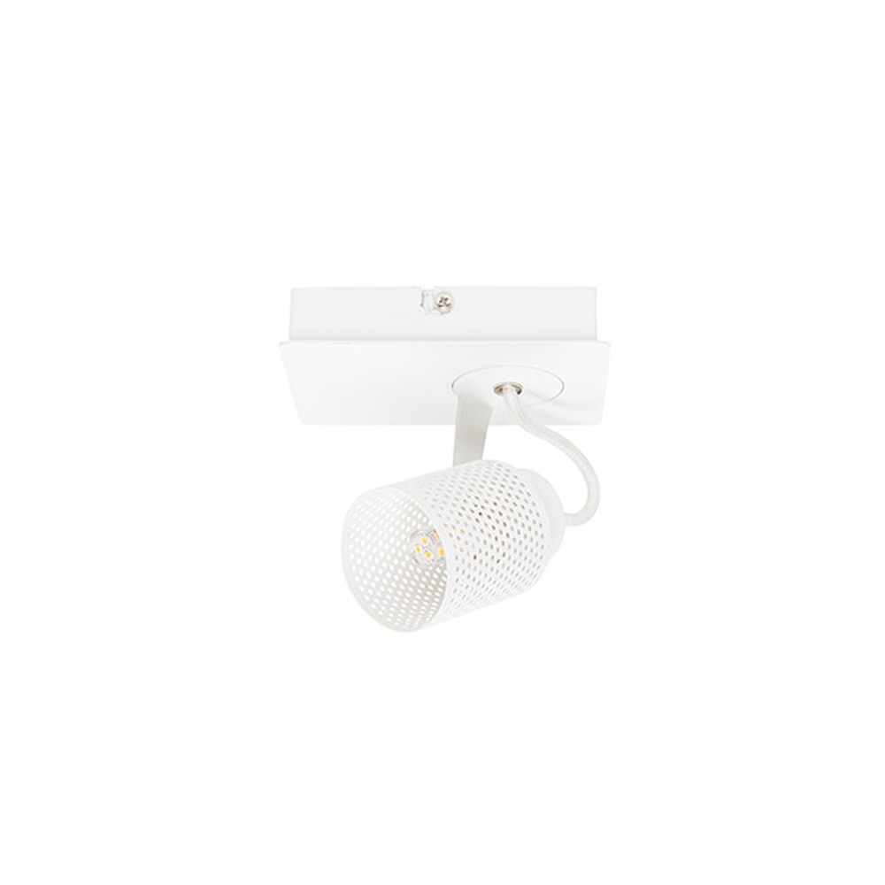 Biele stropné svietidlo White Label Sandy