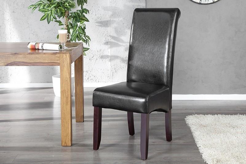 Jedálenská stolička VALENTINA - tmavá kávová