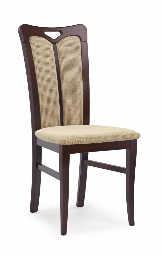 Jedálenská stolička Hubert 2 Orech tmavý + béžová