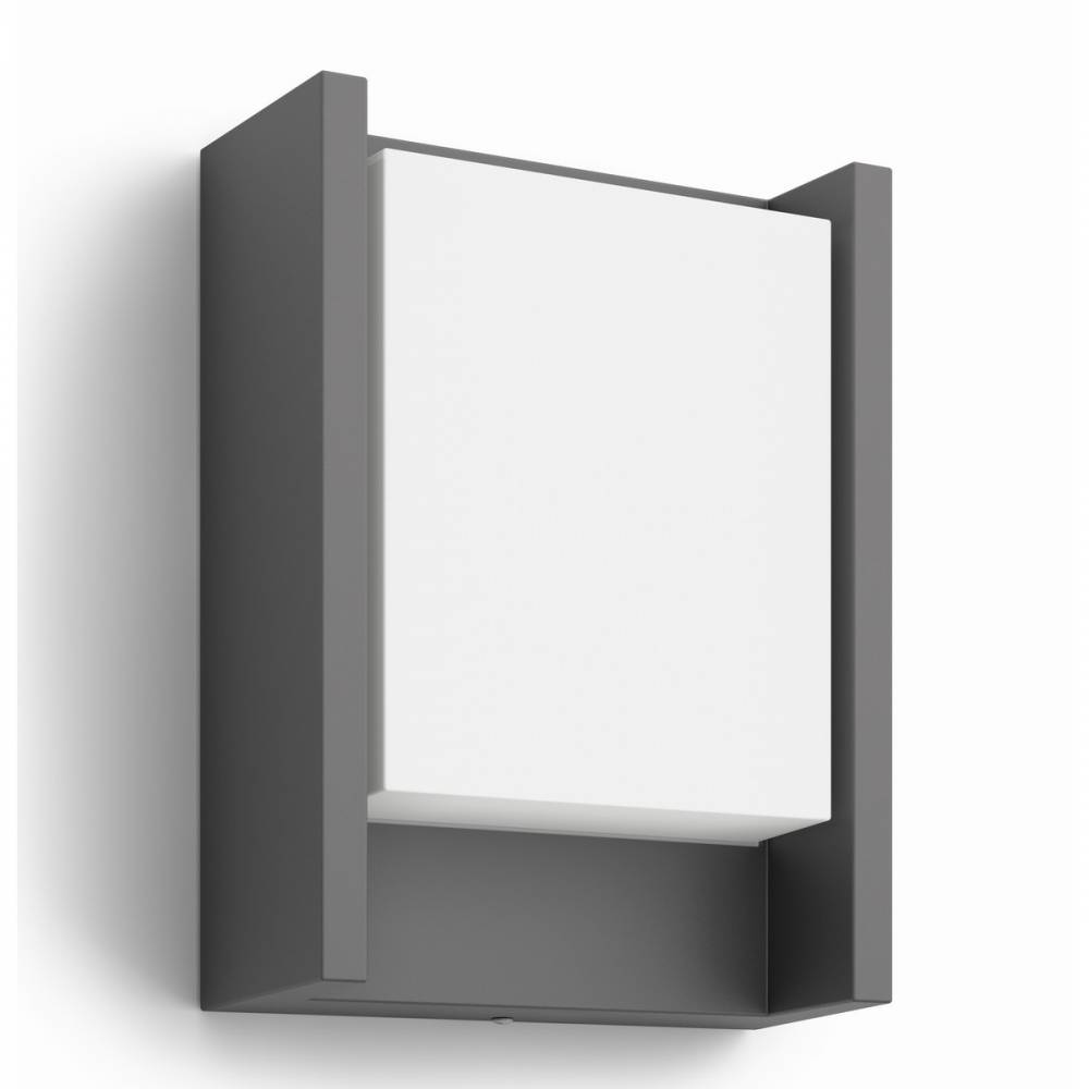 Philips 16460/93/16 Arbour Vonkajšie nástenné LED svietidlo 22 cm, antracit