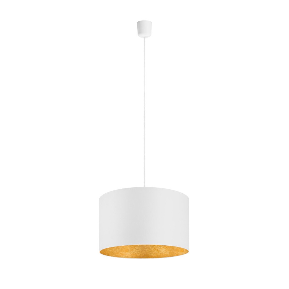 Bielo-zlaté závesné svietidlo Sotto Luce Mika, Ø40 cm