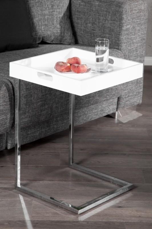 Servírovací stolík IMANE - biela