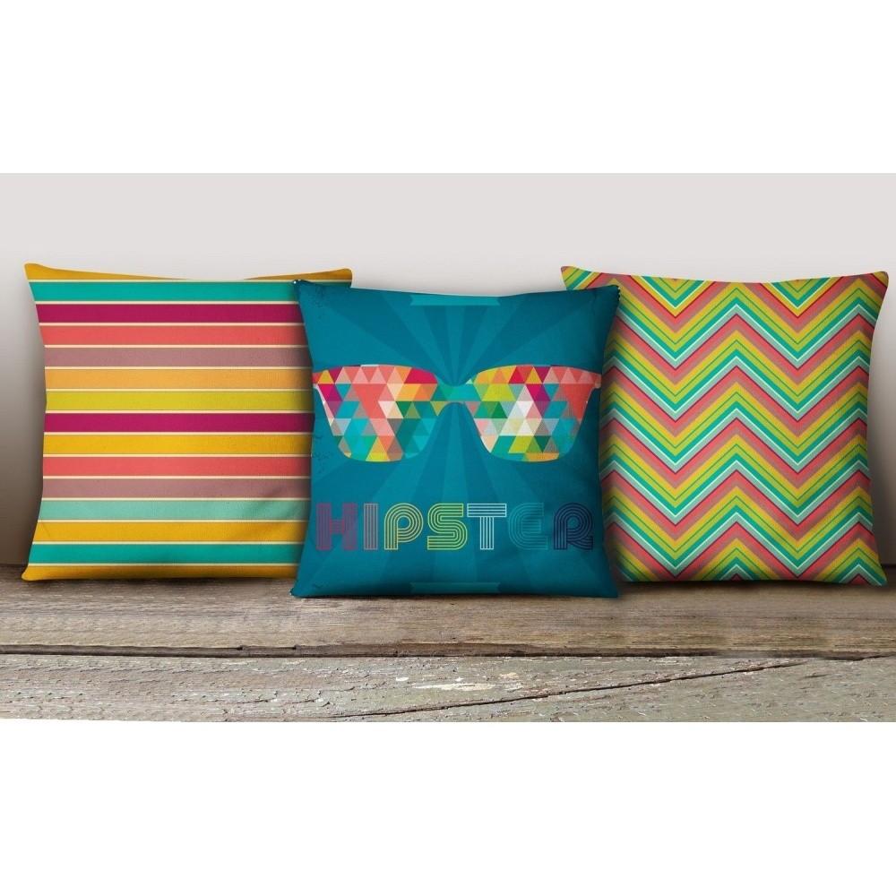 Sada 3 obliečok na vankúše Decorative Cushion Set Calliento