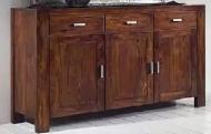 Furniture nábytok  Masívna komoda s 3 zásuvkami a 3 skrinkami z Palisander  Sohiní  150x45x85 cm