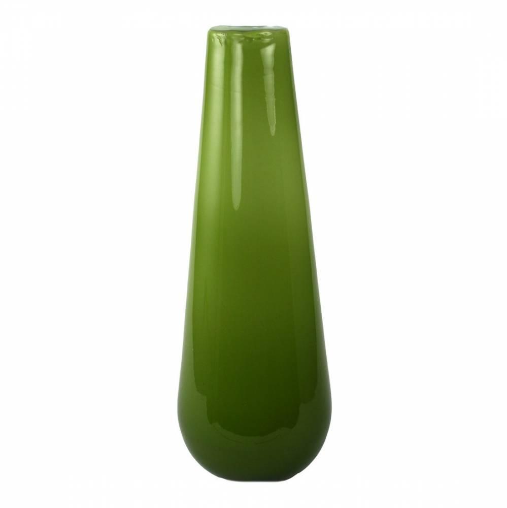 Sklenená váza Luna zelená, 25 cm