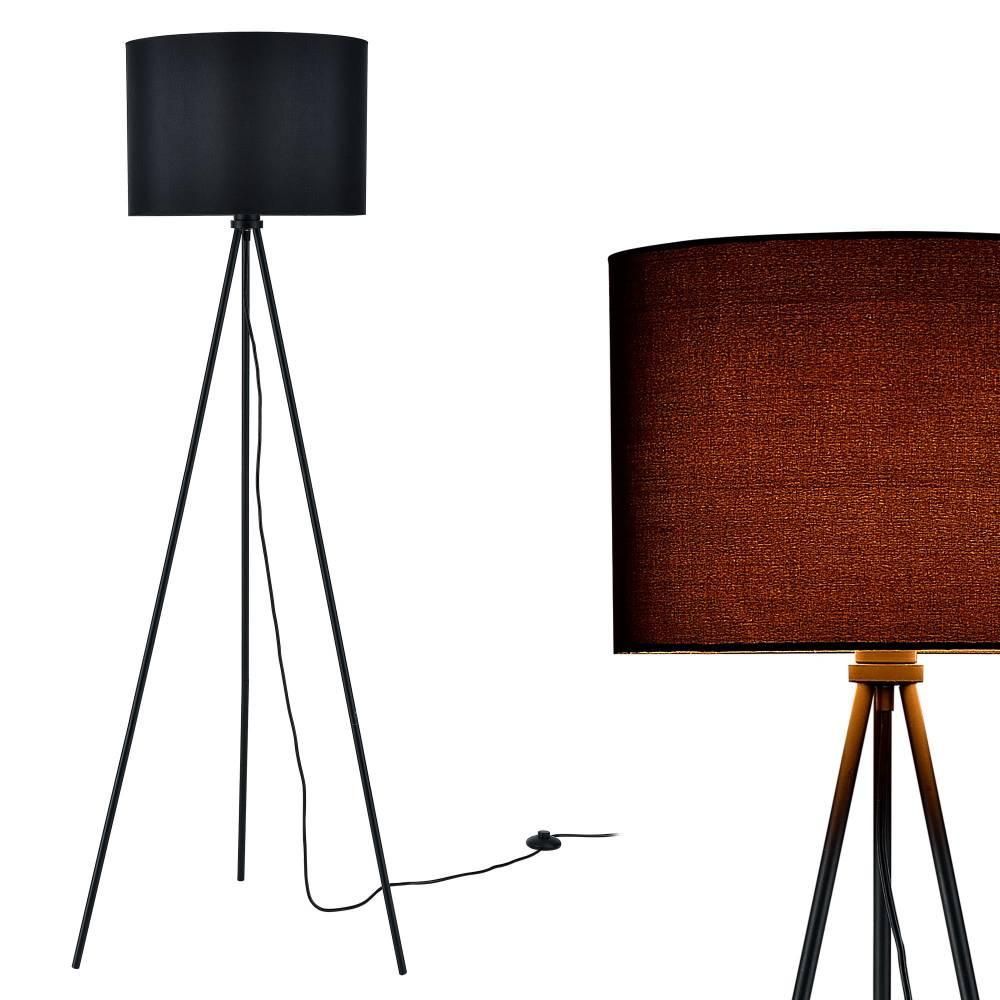 [lux.pro]® Elegantná stojaca lampa - ihlan 1 x E27 - 40W - čierna
