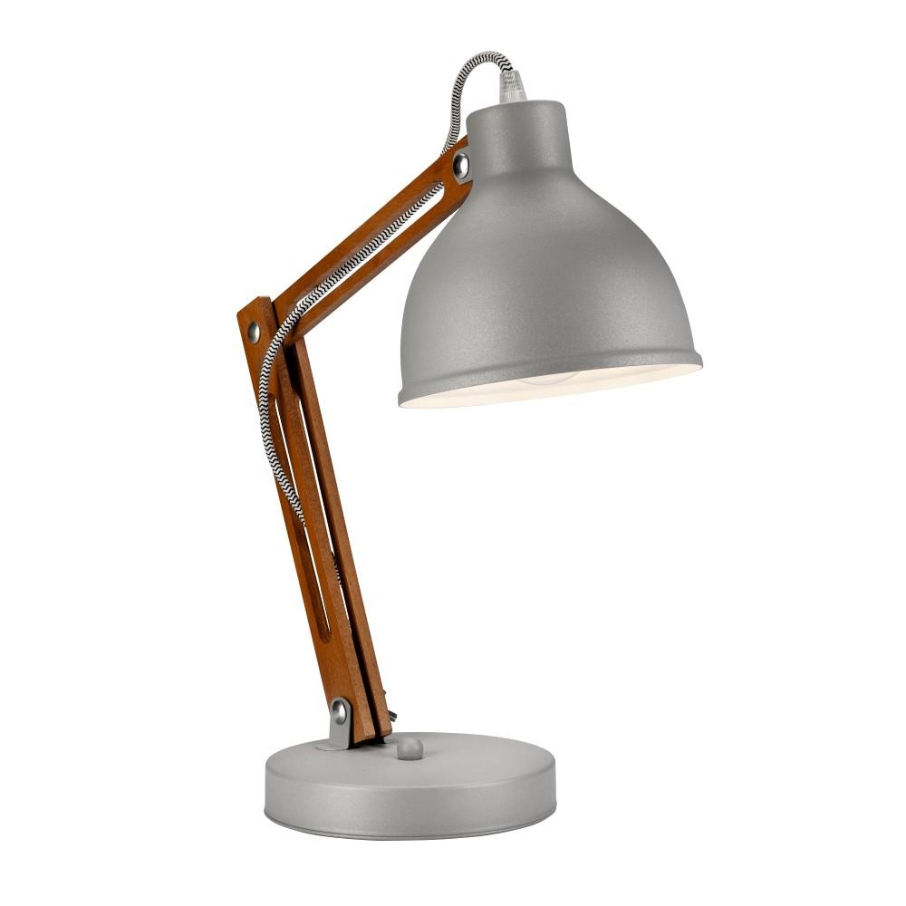 Sivá stolová lampa Lamkur Marcello