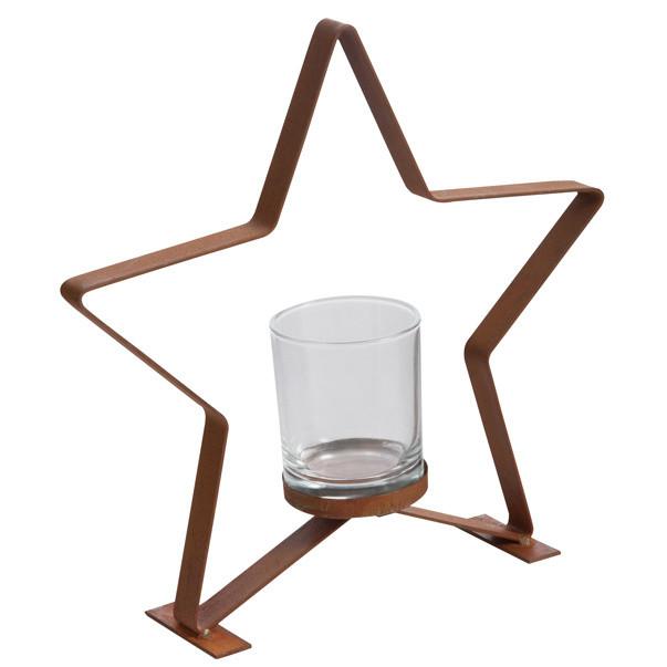Svietnik J-Line Star Metal S