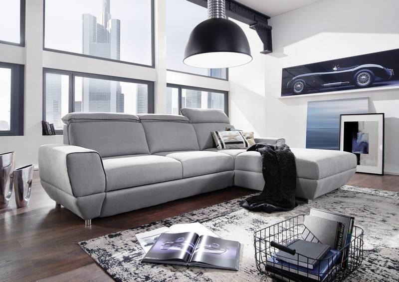 Bighome - OTAVIO rohová sedačka, sivá