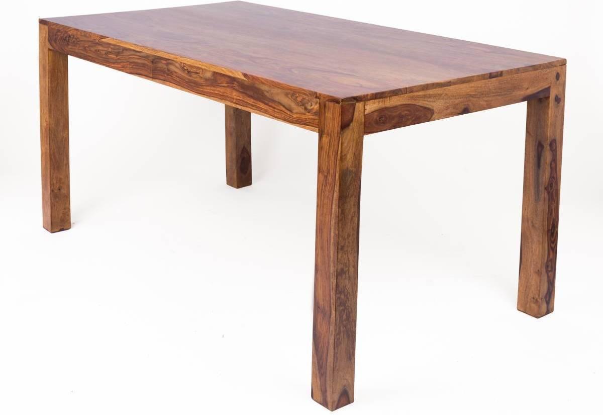 Masívny jedálenský stôl MARAGOS 160x100 cm - prírodná