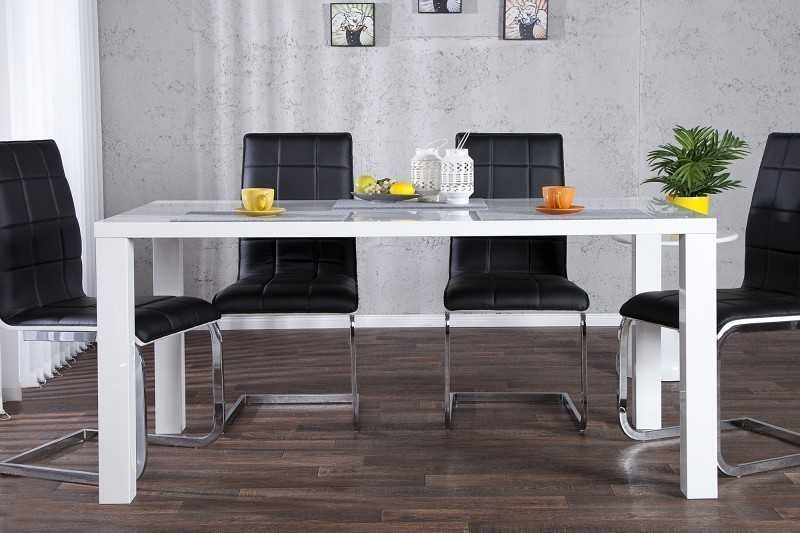 Jedálenský stôl COLONADA  160 cm - biela