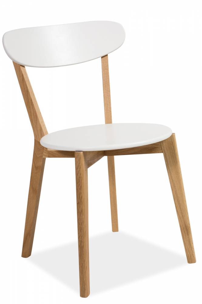 Stolička MILANO dub/biela