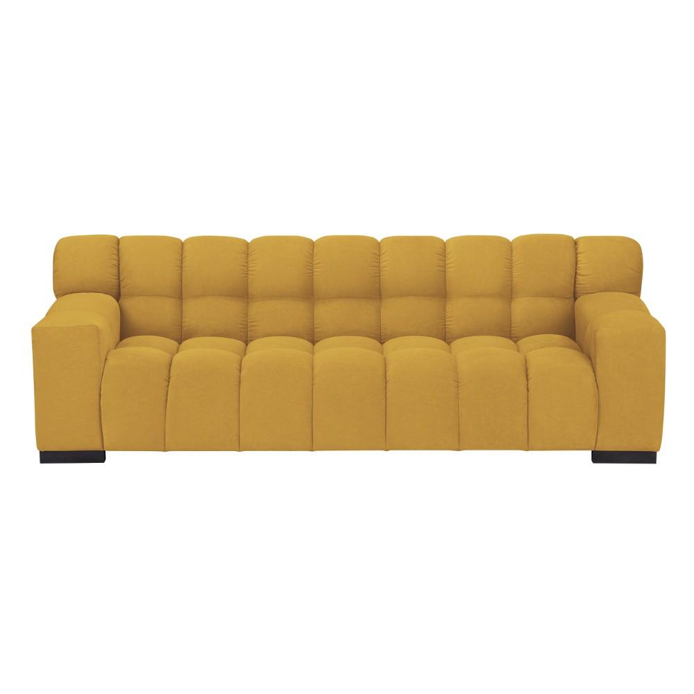 Žltá trojmiestna pohovka Windsor & Co Sofas Moon