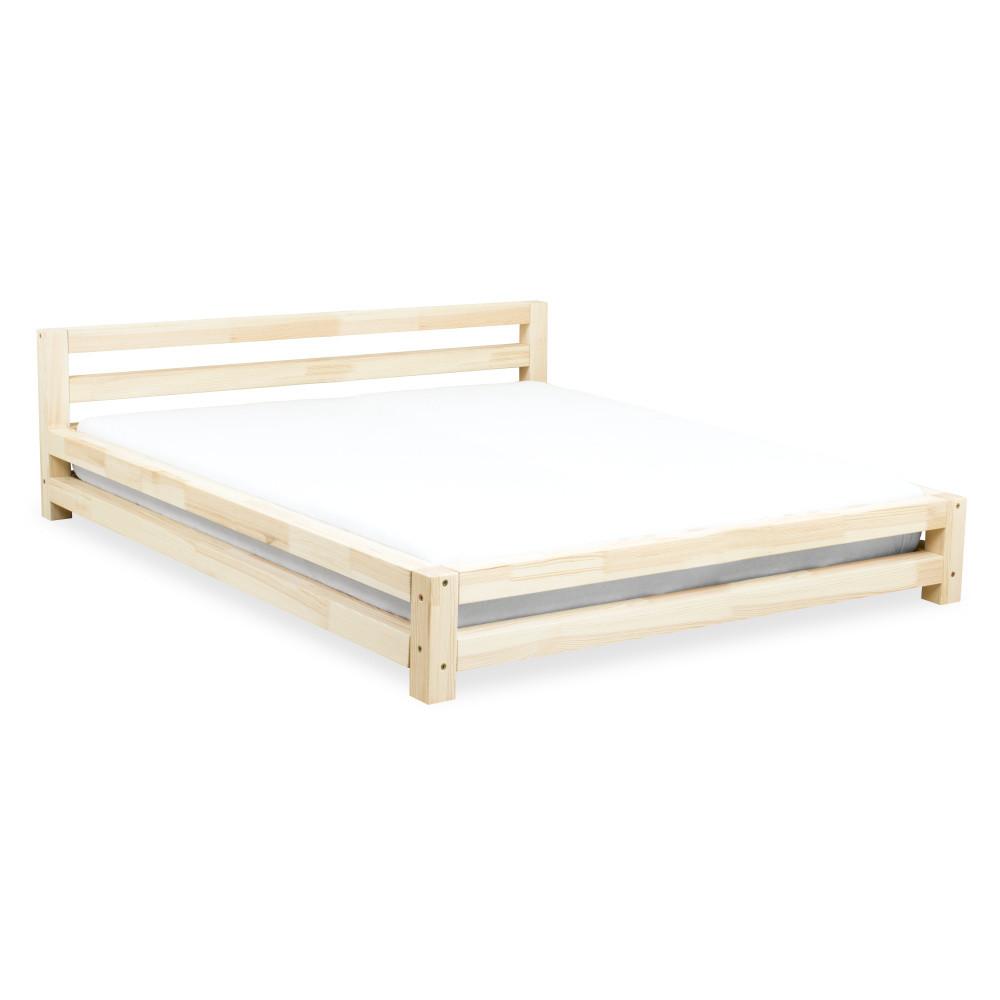 Dvojlôžková lakovaná posteľ zborovicového dreva Benlemi Double, 200x200cm