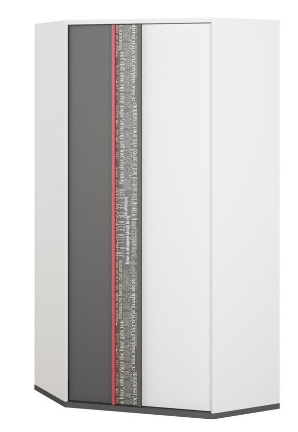 Rohová šatníková skriňa Philosophy PH-01 2D