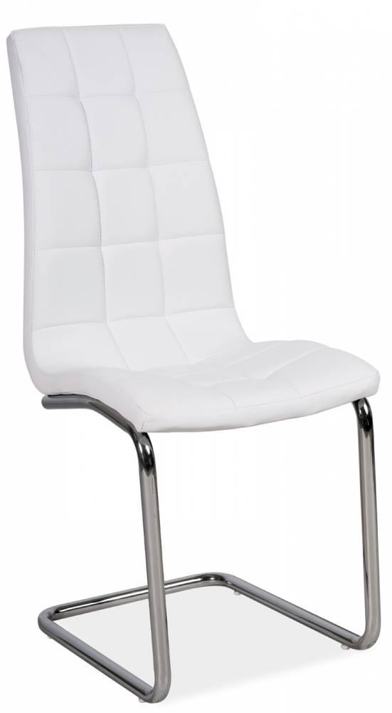 Jedálenská stolička H-103 (ekokoža biela)