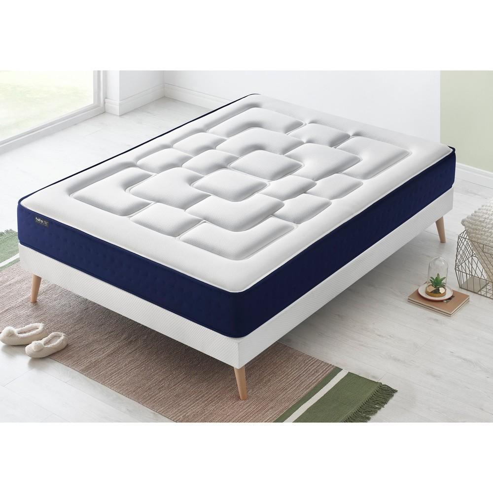 Dvojlôžková posteľ s matracom Bobochic Paris Velours, 160 x 200 cm