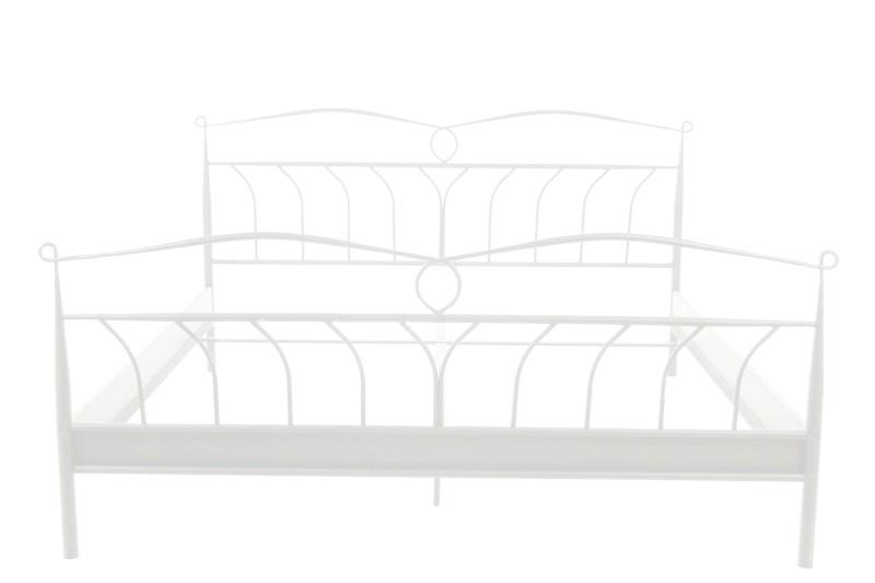 LINER 10205 kovová posteľ 140 x 200, biela
