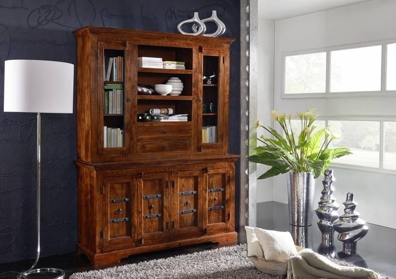 OXFORD #530 Kolonial príborník, masívny agátový nábytok