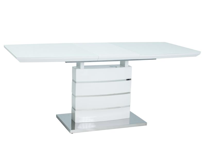DAVINCI jedálenský stôl 140x80 cm, biely lesk