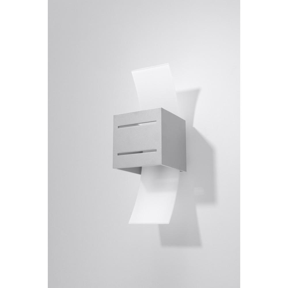 Nástenné svetlo Nice Lamps Carlo Grey