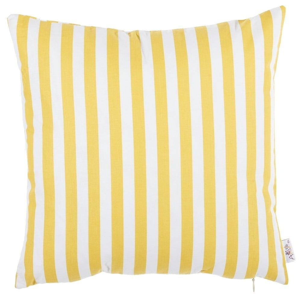 Žltá bavlnená obliečka na vankúš Apolena Tureno, 35 x 35 cm