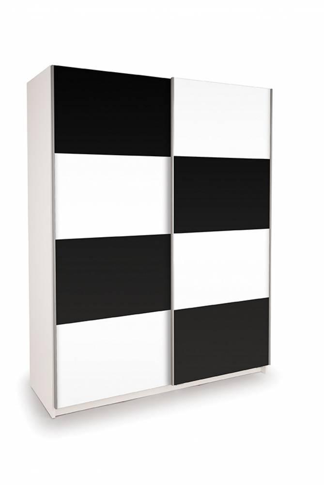 Skriňa EKO PLUS BT11 biela/čierna lesklá 150