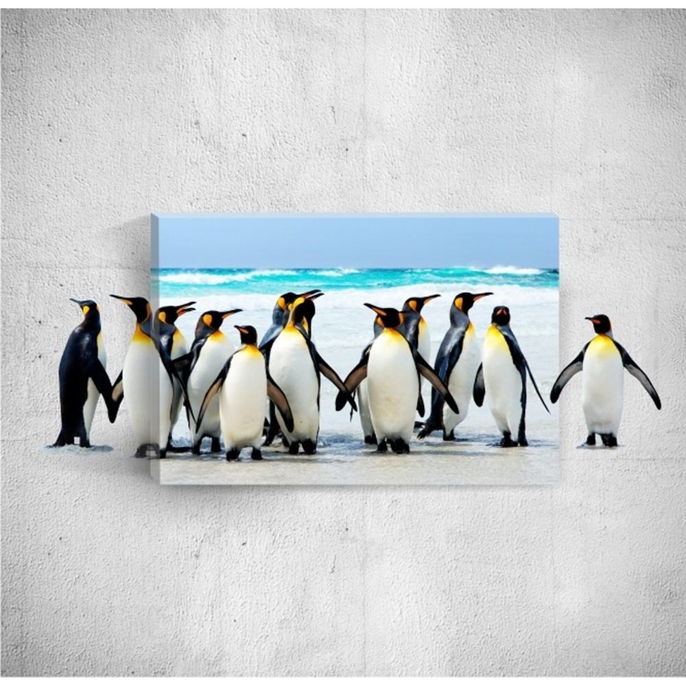 Nástenný 3D obraz Mosticx Penquins, 40×60 cm