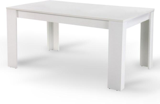 Jedálenský stôl, biely, 140x80 cm, TOMY