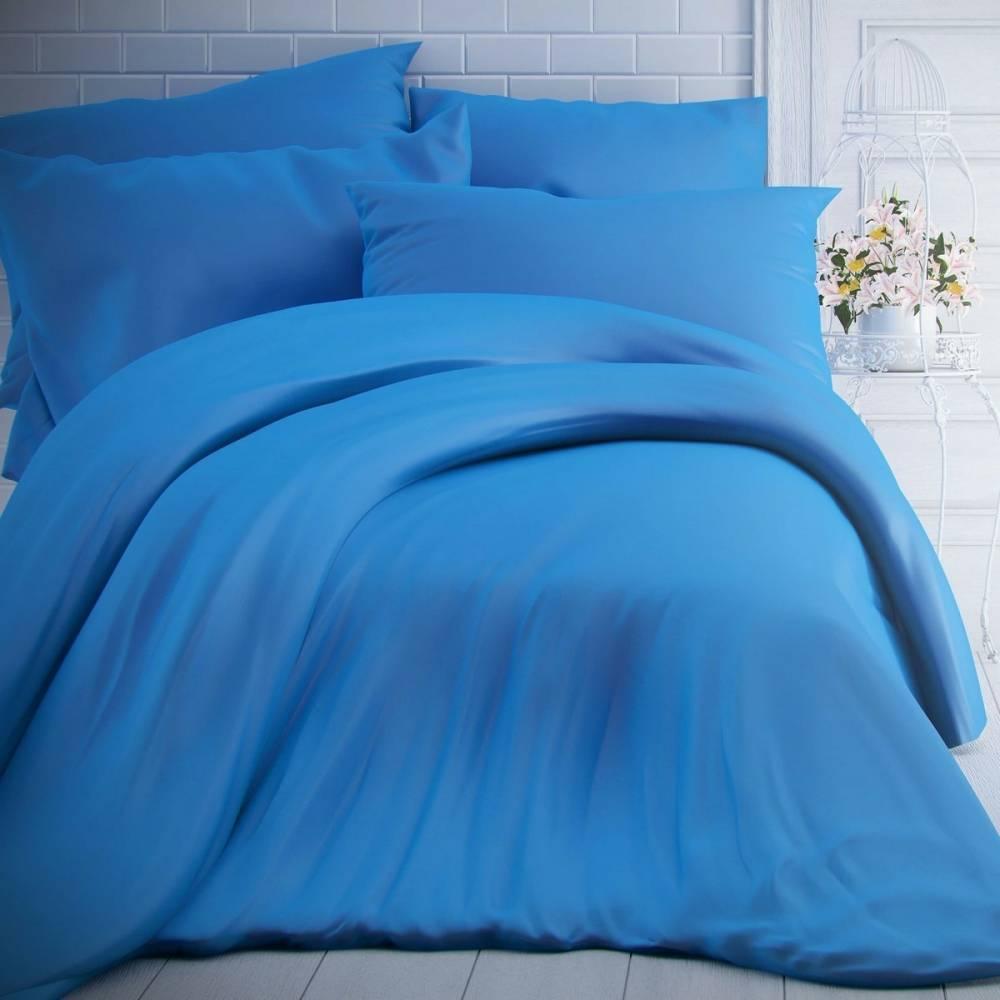 Kvalitex Bavlnené obliečky modrá, 140 x 200 cm, 70 x 90 cm
