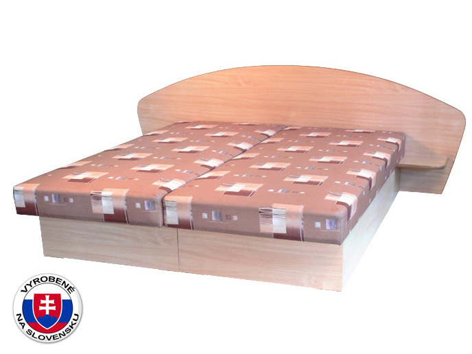 Manželská posteľ 160 cm Edo 7 s policami (s molitanovým matracom)