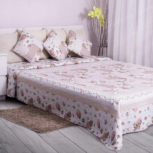 Domarex Prehoz na posteľ Ružová záhrada, 200 x 220 cm