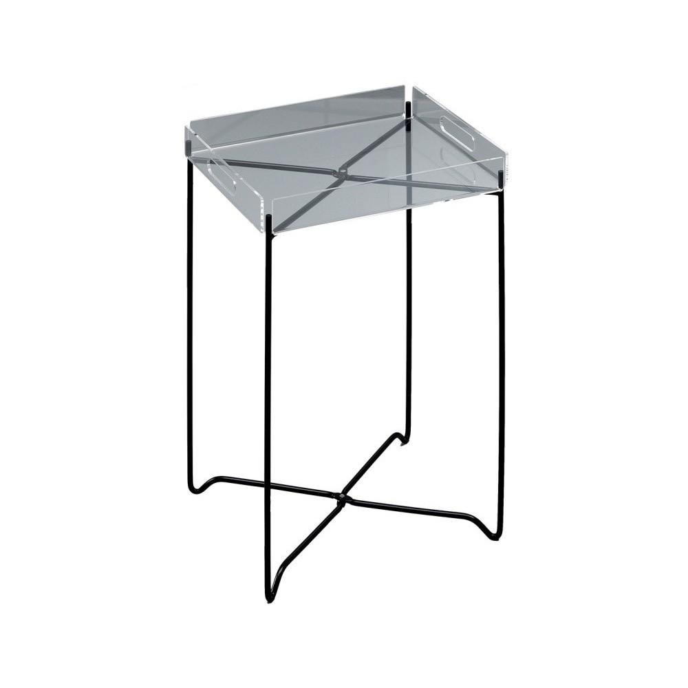 Odkladací stolík s čiernou podnožou Design Twist Nagpur