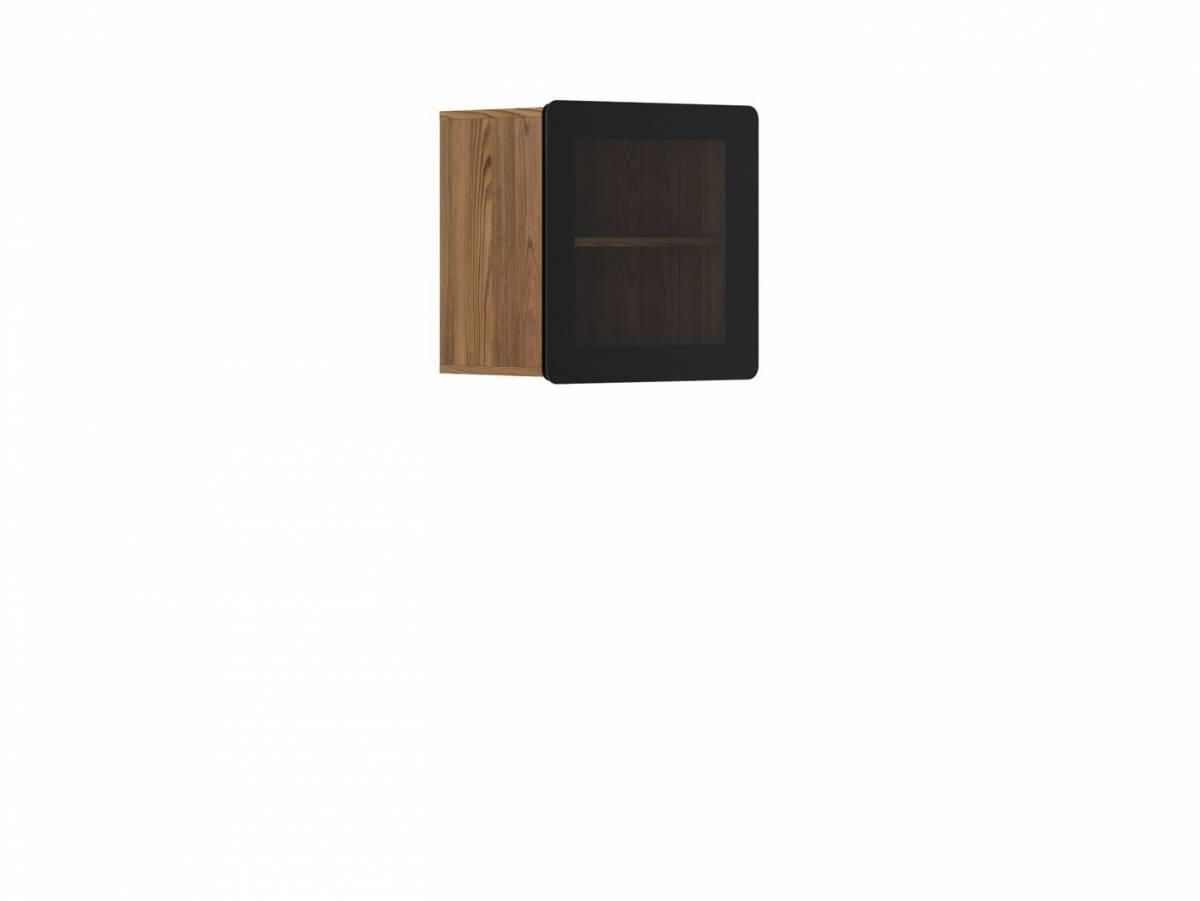 Vitrína na stenu Possi Light SFW1W/5/5 (smrekovec sibiu zlatý) (s osvetlením)