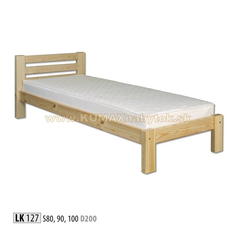Jednolôžková masívna posteľ LK 127 S80