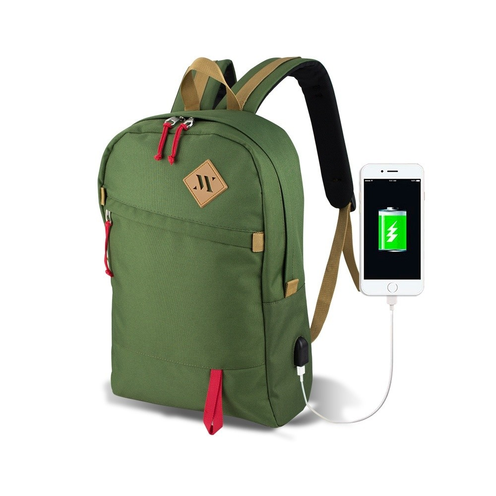 Zelený batoh s USB portom My Valice FREEDOM Smart Bag