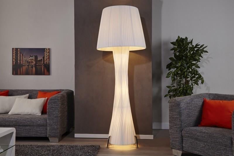 Stojaca lampa RETICULUM s tienidlom - biela